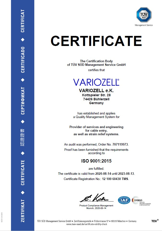 preview english ISO 9001 certificate